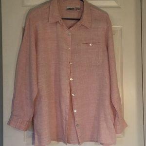 LOVE LINEN? Pink/white Nice Summer Shirt